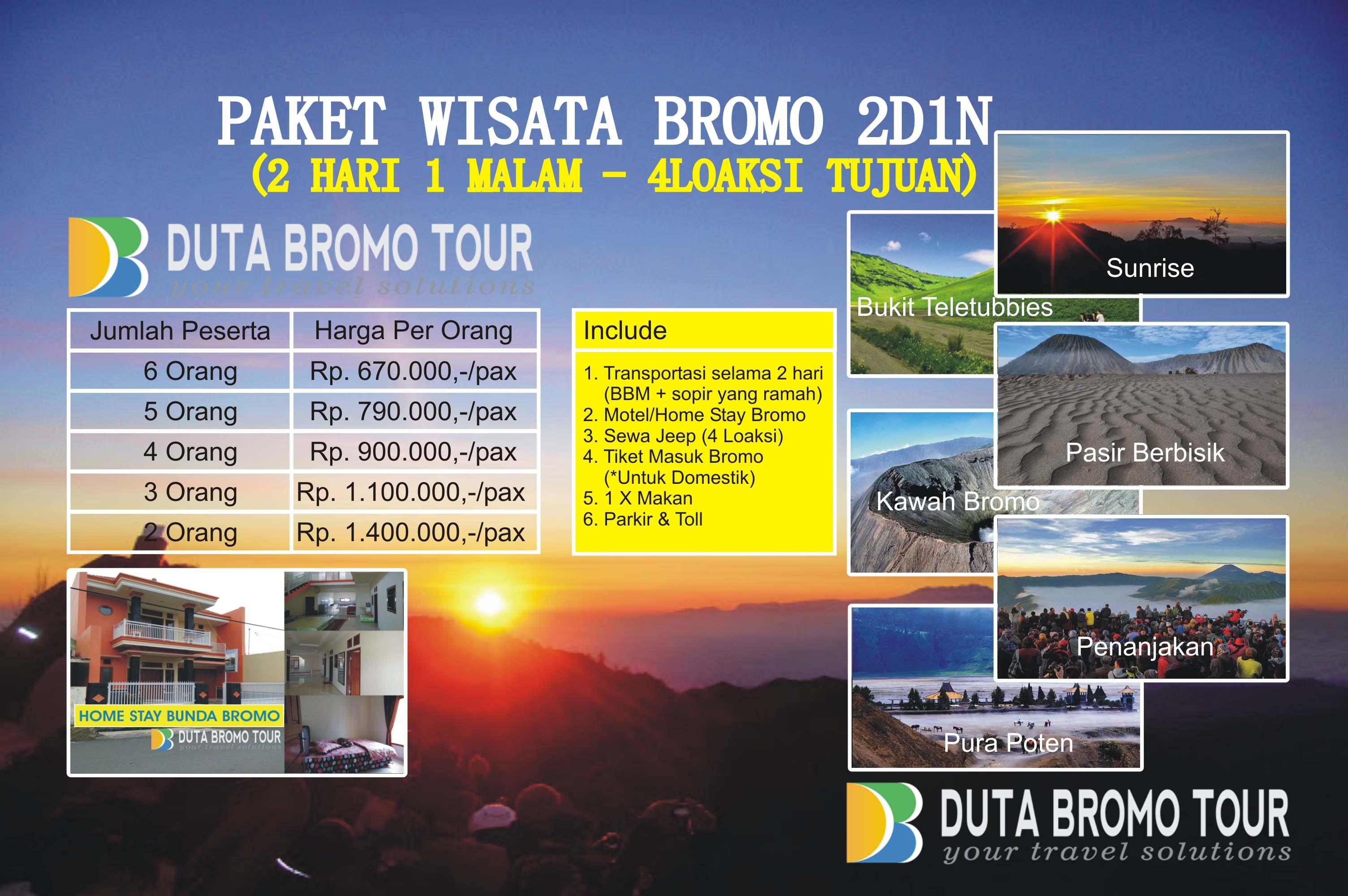 Duta Bromo Tour » Paket Wisata Bromo 7D7N (7Hari 7Malam)