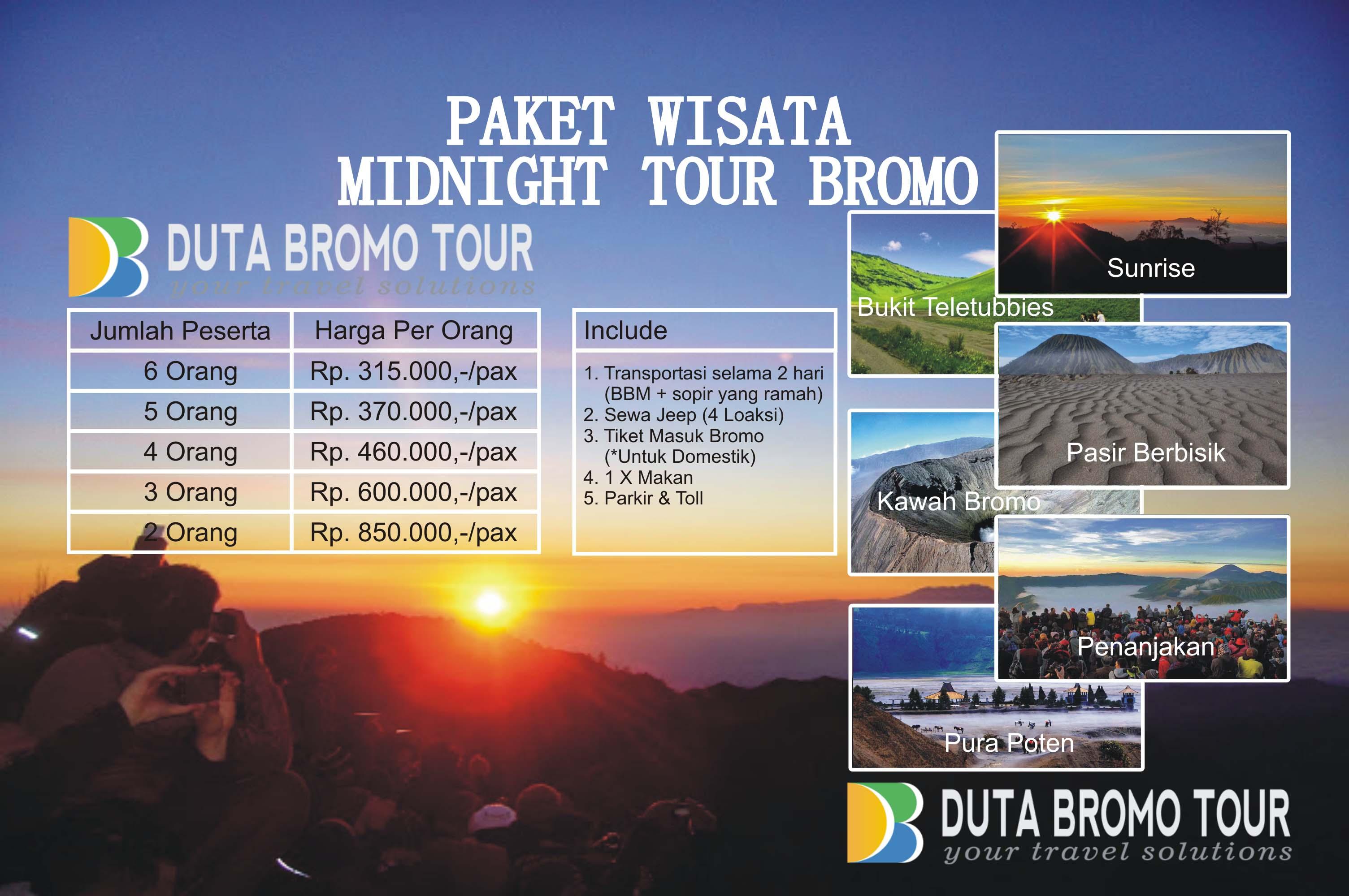 Duta Bromo Tour Paket Wisata Midnight Tour Bromo